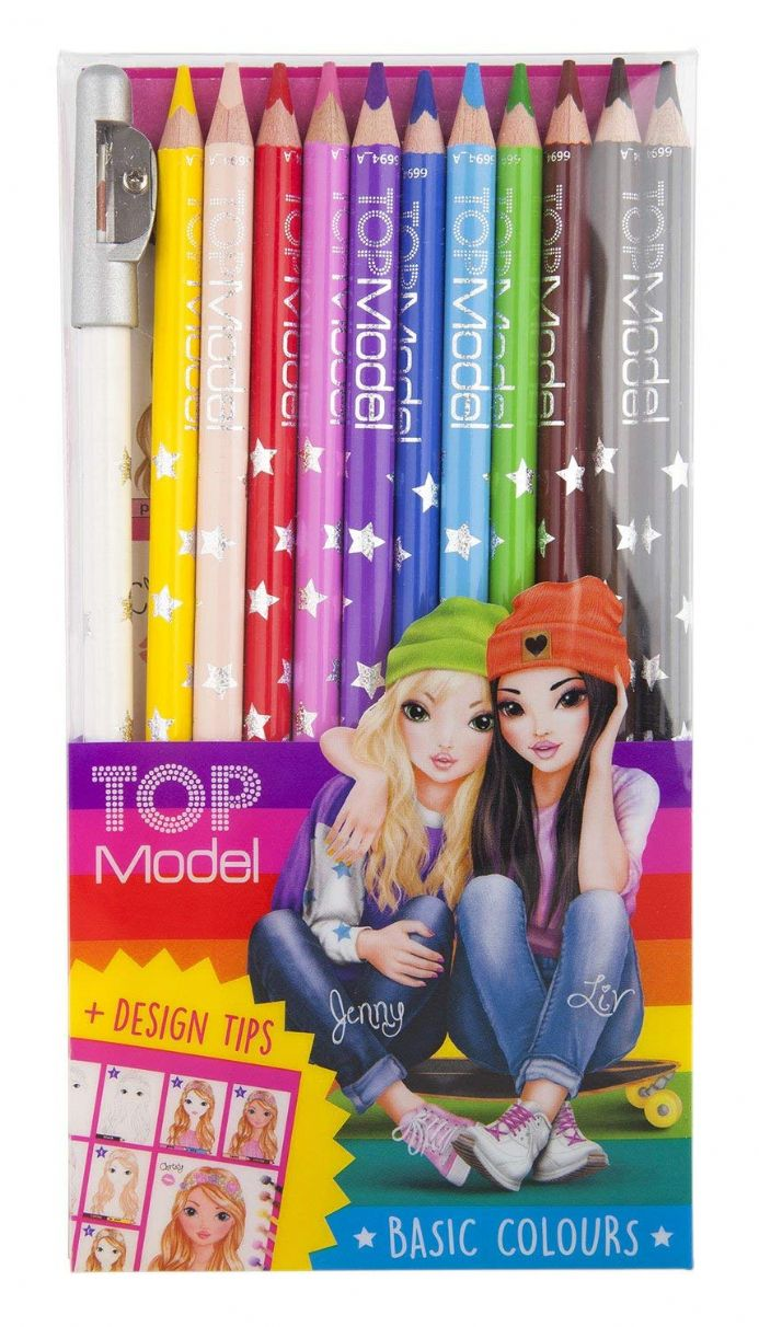 TOP Model 12 Basic Colours Pencil Set